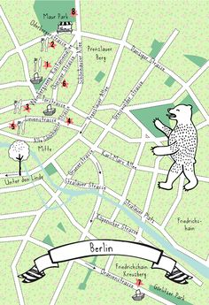 A fun and quirky map of Berlin in Germany