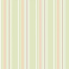 Adesivo de Parede Listra Verde e Bege 47x100
