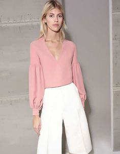 PRE-ORDER: Alexis Gabriella Blouse in Ash Pink - SWANK - Tops - 2