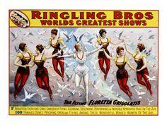 Ringling Brothers Circus poster - Flying Grigolatis Girls