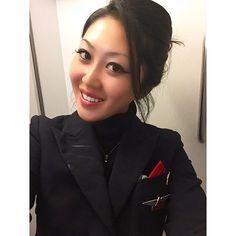 #me in #workingmode #work #flightattendant #uniform #スチュワーデス #CA #制服 #goodflight #selfie #jfk #ams #delta #airline