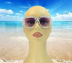 White Sunglasses - Fashion Eyewear - Rhinestone Headbands - Eyewear - Wedding - Bridal Headband - Wedding Accessories - Bridal Party Gifts on Etsy, $29.00
