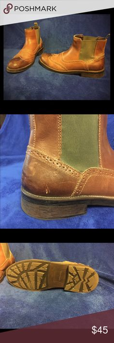 GH Bass boots GH Bass leather slip on boots. Minor scuffs.  Great condition. Bass Shoes Boots