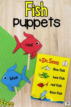 Creating these book-inspired Fish Puppets is a fun way for preschoolers to learn color words, develop fine motor skills, and more!