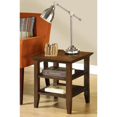 Normandy Tobacco Brown End Table - Overstock™ Shopping - Great Deals on WyndenHall Coffee, Sofa & End Tables