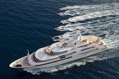 ★ Visit ~ MACHINE Shop Café ★ $ CRN 80m Megayacht 'Chopi Chopi' was a winner at the 2014 world yacht trophy $