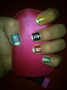 Decorated Converse Sneakers | converse shoes nails; I've done this. :)
