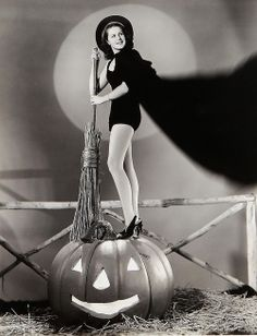 Peggy Moran 1940 - Halloween Pinup - Witch