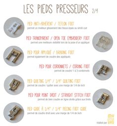 My Little Bag - Couture et Création   Les Pieds Presseurs – Petit Récapitulatif Sewing Hacks, Sewing Crafts, Sewing Projects, Sewing Tips, Techniques Couture, Sewing Techniques, Costumes Couture, Couture Sewing, School Fashion