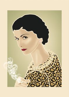 Coco Chanel Illustration by Renan Ramirez #vectorillustration #illustration #cocochanel