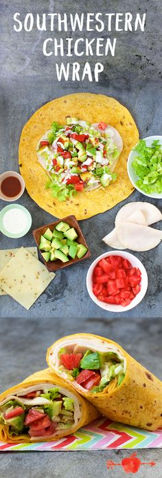 We like the bold heat of the pepper jack cheese with a splash of chipotle hot sauce, but younger lunchers might prefer this wrap made with plain cheddar and no sauce. Makes 1 wrap Healthy Cooking, Healthy Snacks, Healthy Eating, Cooking Recipes, Healthy Recipes, Lunch Snacks, Lunch Recipes, Mexican Food Recipes, Sandwiches