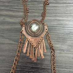 Free people stone necklace Bronze Free People Jewelry Necklaces