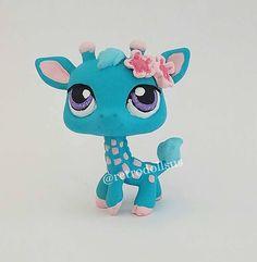 Custom Littlest Pet Shop Toy Giraffe LPS- Please do not copy, I am sharing on my pinterest to showcase my work.