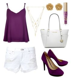 """""""missing the Summertime"""" by unicornsally ❤ liked on Polyvore featuring River Island, rag & bone, Cole Haan, Michael Kors, Ettika, Too Faced Cosmetics and Miriam Haskell"""