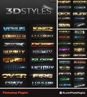 3D Photoshop Text Effects Big Bundle by GraphixRiver