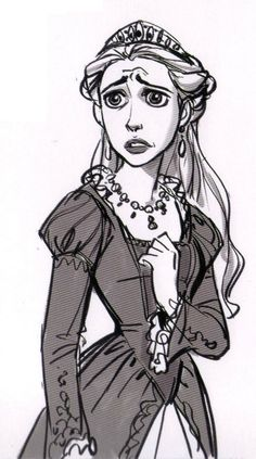 Living Lines Library: Tangled (2010) - Other Characters-from The Art of Tangled book as well.