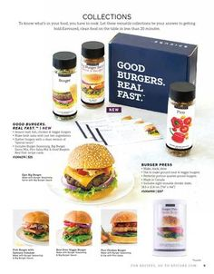 ISSUU - Spring & Summer 2015 Catalogue by Epicure Burger seasoning is a staple in my burgers. Fast Healthy Meals, Easy Meals, Healthy Recipes, Healthy Eating, Epicure Recipes, Burger Seasoning, Big Burgers, Burger Press, Good Burger