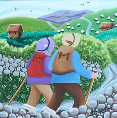 View details of original Nikky Corker painting 'Away to the Hills'