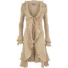 Stone ruffle cardigan ($35) ❤ liked on Polyvore