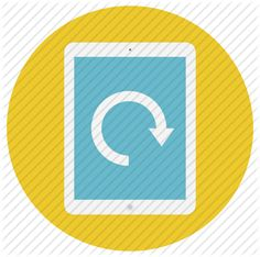 display, flip, mobile, move, multimedia, rotate, round, slate, tab, tablet, technology icon