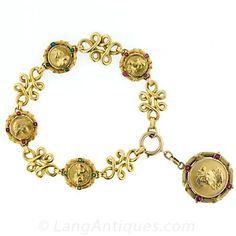 This is one of my favorite pieces. Art Nouveau Charm Bracelet