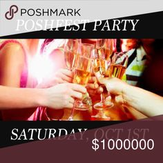I'M HOSTING MY FIRST POSH PARTY! 🍾🍾 So excited to be hosting my first POSH party this Saturday, Oct 1st 🎉🍾🎉!!! Please help me get the word out QUICKLY 😬 and tag any closets you'd like me to check out! Thanks and see you all there!!! 🍾🎉🛍 Other