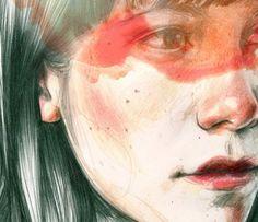 Paula Bonet, la convergencia de palabra e imagen   Cactus Paula Bonet, Woman Illustration, Coloured Pencils, Pencil Art, Motion Graphics, Artsy Fartsy, Portrait, Artwork, Painting