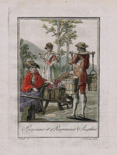 1780 - England English Britain British costume engraving antique print | eBay