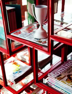 Great way to display your magazine stash -  Sincerely, JoAnne Biddy Craft.