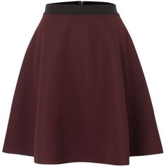 Sportmax Code Red Jersey A line skirt (£79) ❤ liked on Polyvore featuring skirts, maroon, sale, sportmax skirt, red skirt, red knee length skirt, zipper skirt and short a line skirt