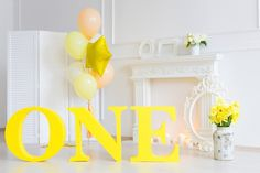 ONE for birthday. Made by Svinibam. Big Letters, Chandelier, Ceiling Lights, Birthday, Home Decor, Candelabra, Birthdays, Decoration Home, Room Decor