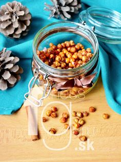 Medovo-škoricový snack z cíceru