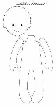 Felt workshop from scratch: patterns of figures with padding - Happy Tiere Fabric Doll Pattern, Felt Doll Patterns, Doll Clothes Patterns, Fabric Dolls, Paper Dolls, Rag Dolls, Homemade Dolls, Doll Tutorial, Sewing Dolls