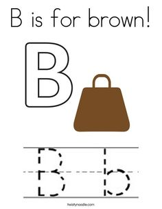 B is for brown Coloring Page - Twisty Noodle