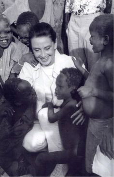 Audrey Hepburn~Devoting much of her later life to UNICEF. Although contributing to the organisation since 1954, she worked in some of the most profoundly disadvantaged communities of Africa, South America and Asia between 1988 and 1992. She was awarded the Presidential Medal of Freedom in recognition of her work as a UNICEF Goodwill Ambassador in late 1992.