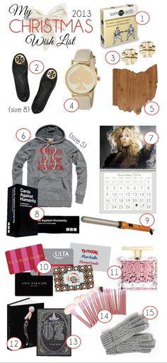 My Christmas Wish List 2013