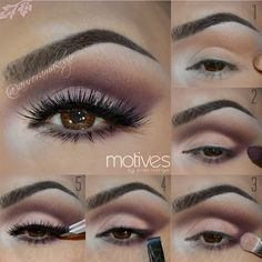 """Hi gorgeous!  So sorry for this time without posts, I just moved to new home and everything is a mess.  I will post as soon as I can.  LOVE U!! Products @motivescosmetics by @lorenridinger Palette :""""My Beauty Weapon""""  STEP1 -Apply Eye Shadow Base -Highlight inner corner & brow bone with IVORY Eye Shadow -Blend CHOCOLATE Eye Shadow on the crease Brush: 227 Soft Definer by @zoevacosmetics  STEP2 -Mark socket line with PLUM Eye Shadow -Blend same color PLUM below lower lashes Brush : 228…"""