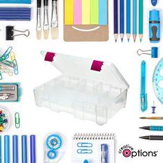 An organized desk is a happy desk! #CreativeOptions Deep Utility Box from Joann