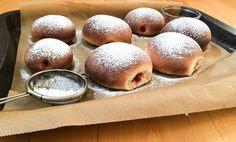 Fluffige ruck-zuck Ofen-Krapfen könne sich im Fasching wirklich sehen lassen. Nomnom
