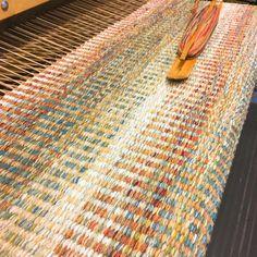 Pretty rug in progress More