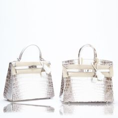 Sell Your Hermes Birkin Handbags Online at www.LuxuryBuyers.com. A Very  Rare 25cm  Hermes  Himalayan  Birkin and  Kelly Suite! A 11938466c5