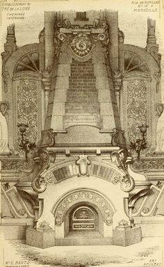 Design for a fireplace, Marseille