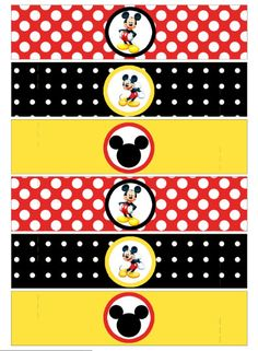 Napkin Ring  Mickey Mouse Party  printable party by worldwideparty, $3.50