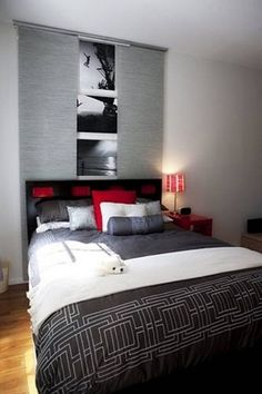 Black White Grey And Red Bedrooms