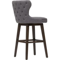 Ariana Swivel Bar Stool, Dark Grey - Dining Stools - Dining - Furniture
