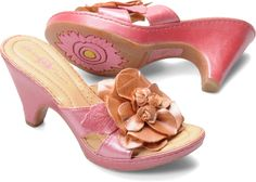 Born Womens Layla in Pink Peach Metallic