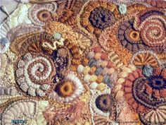Look at the fabulous detail of this crocheted freeform work!