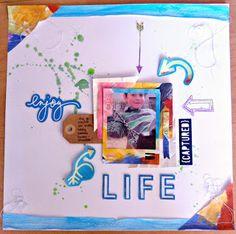 "Scrapbooking Layout ""enjoy Life"""