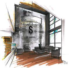 Illustration - Le Samuel - A2 Design/ Élégant/ Sophistiqué