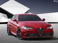 A front view of the Alfa Romeo Giulia
